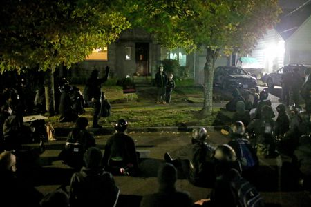 Portland protesters outside Commissioner Dan Ryan's house
